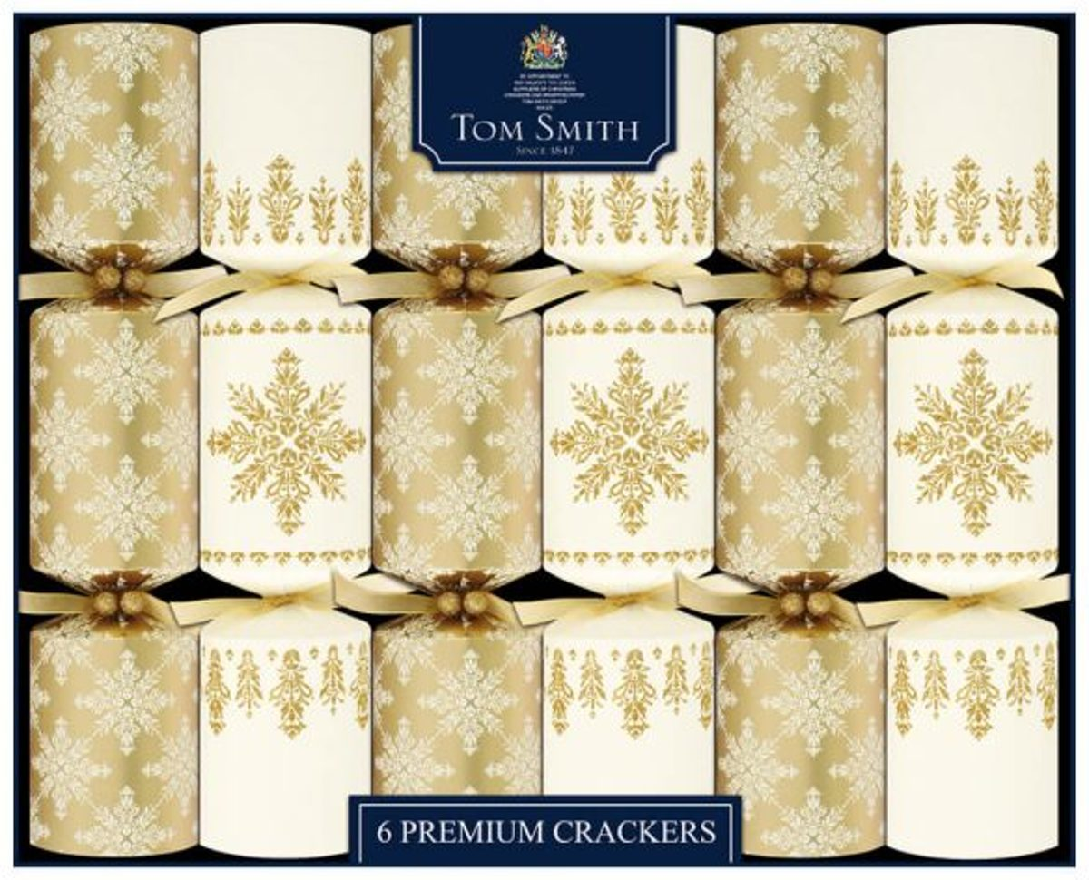 Christmas Crackers Luxe goud-Creme