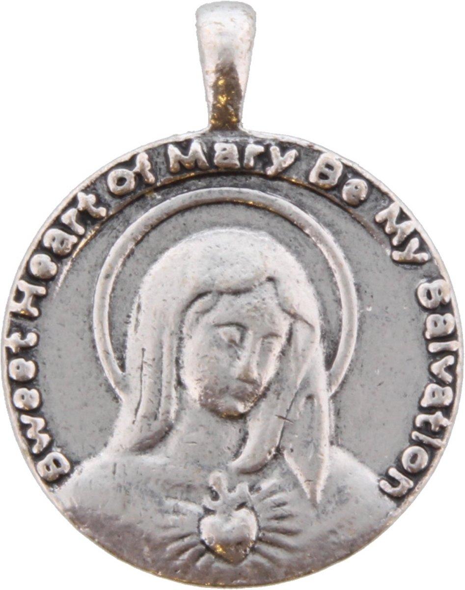 2-zijdige zilveren munt/hanger voor bij bijpassende ketting. Doorsnede 3 centimeter. kopen