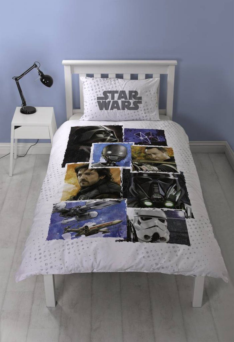 Star Wars Battle - Dekbedovertrek - Eenpersoons - 135 x 200 cm - Multi kopen