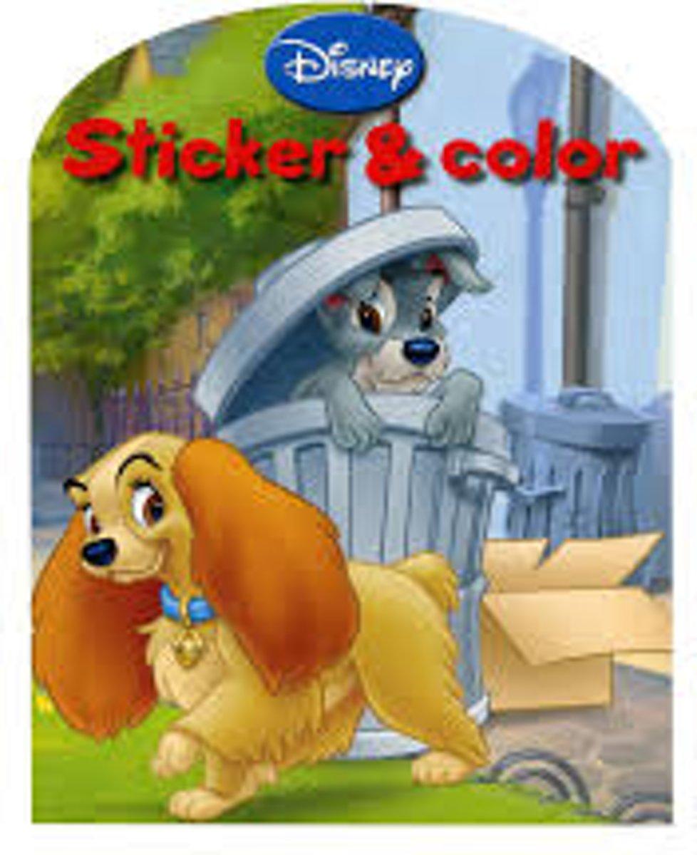 Disney sticker & color boek