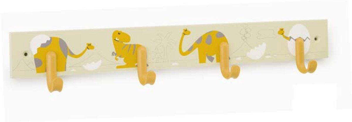 Kinder kapstok - Dinosaurus geel