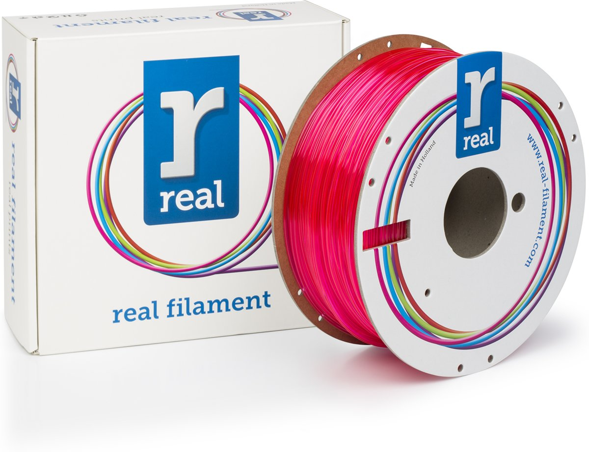 REAL Filament PETG transparant magenta 1.75mm (1kg)
