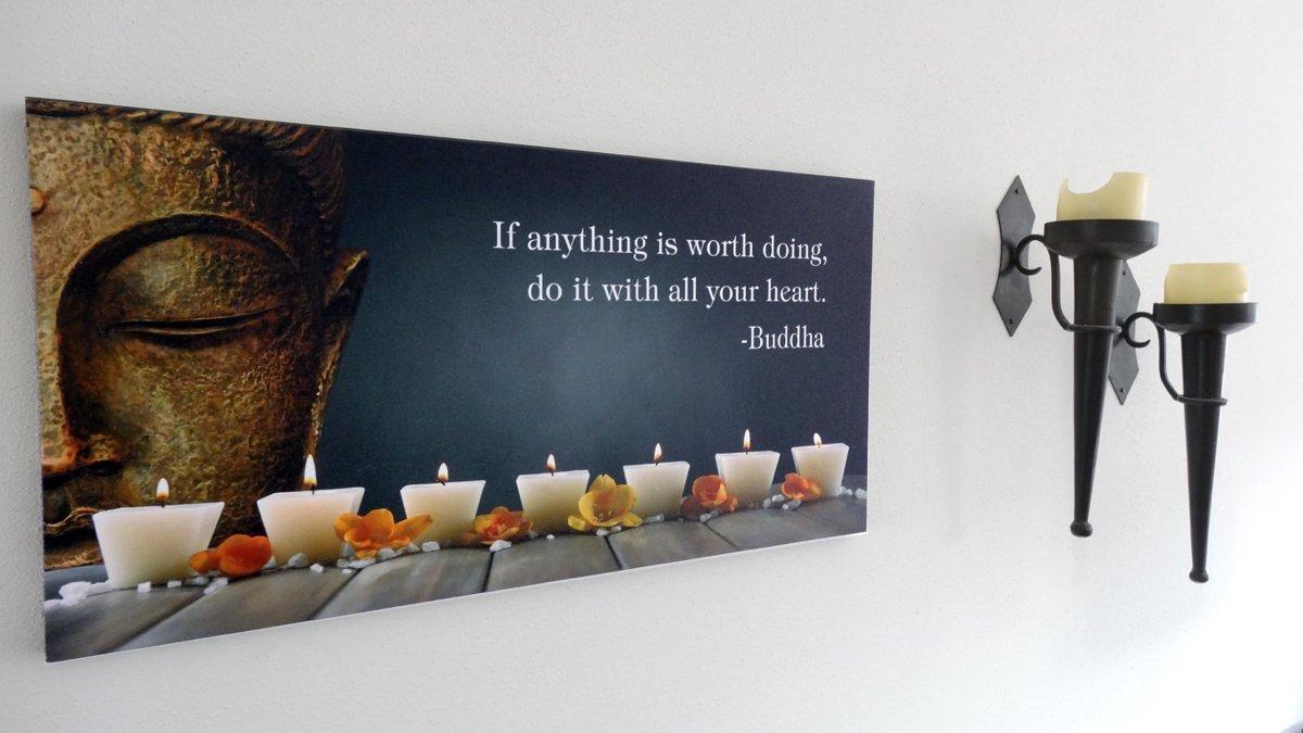 bol.com   Boeddha Canvas Schilderij met LED
