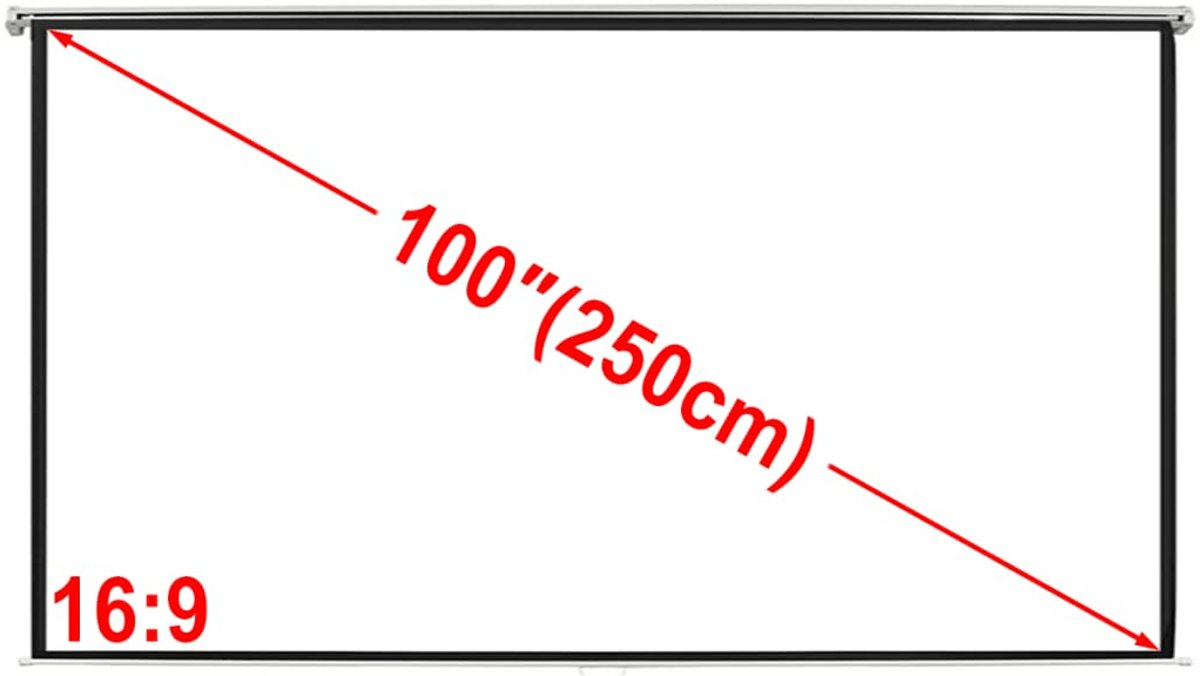 vidaXL Projectiescherm (4:3 formaat) wit 200x153 cm kopen
