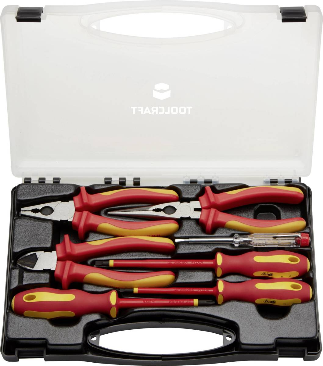 TOOLCRAFT TO-5005137 Elektricien Gereedschapsset In koffer 7-delig kopen