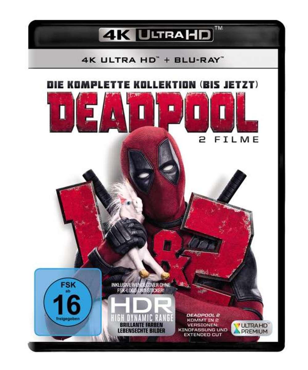 Deadpool 1 & 2 (Ultra HD Blu-ray & Blu-ray)-