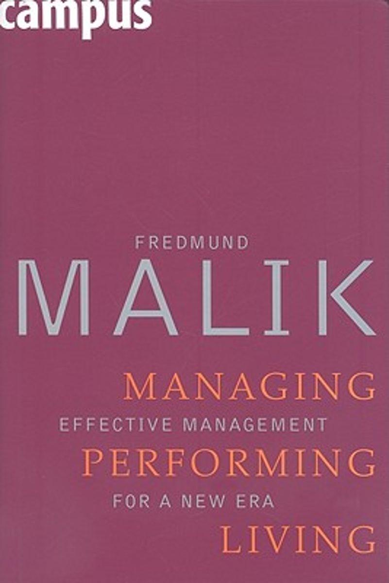 bol.com   Managing Performing Living, Fredmund Malik   9783593382784    Boeken