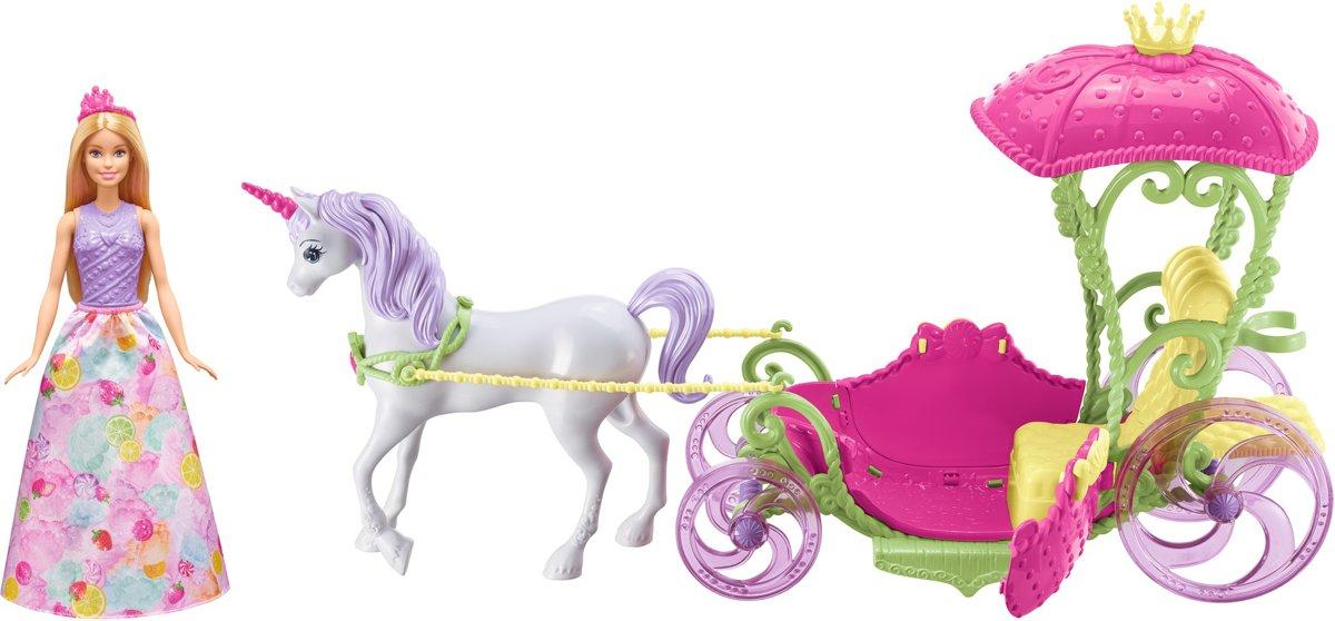 Barbie Dreamtopia Zoethuizen Koets met Eenhoorn