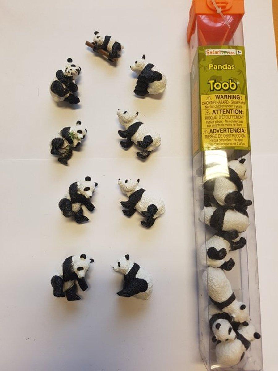 Pandas Minifiguren 9 stuks kopen