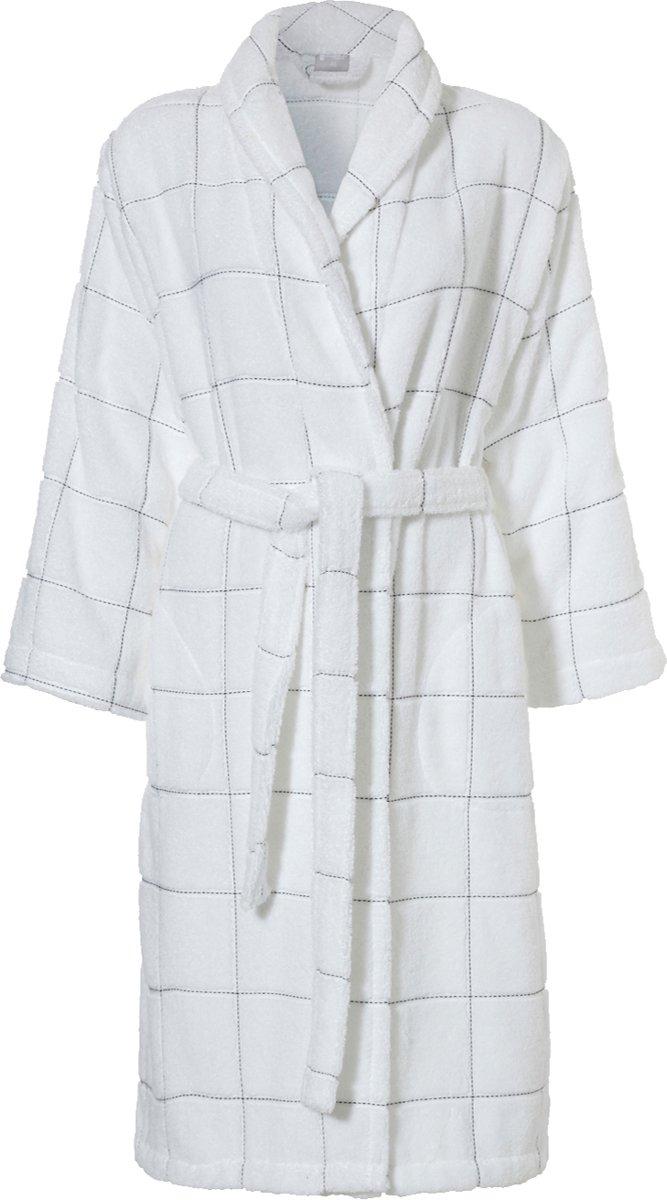 Seahorse Grid badjas white XL kopen