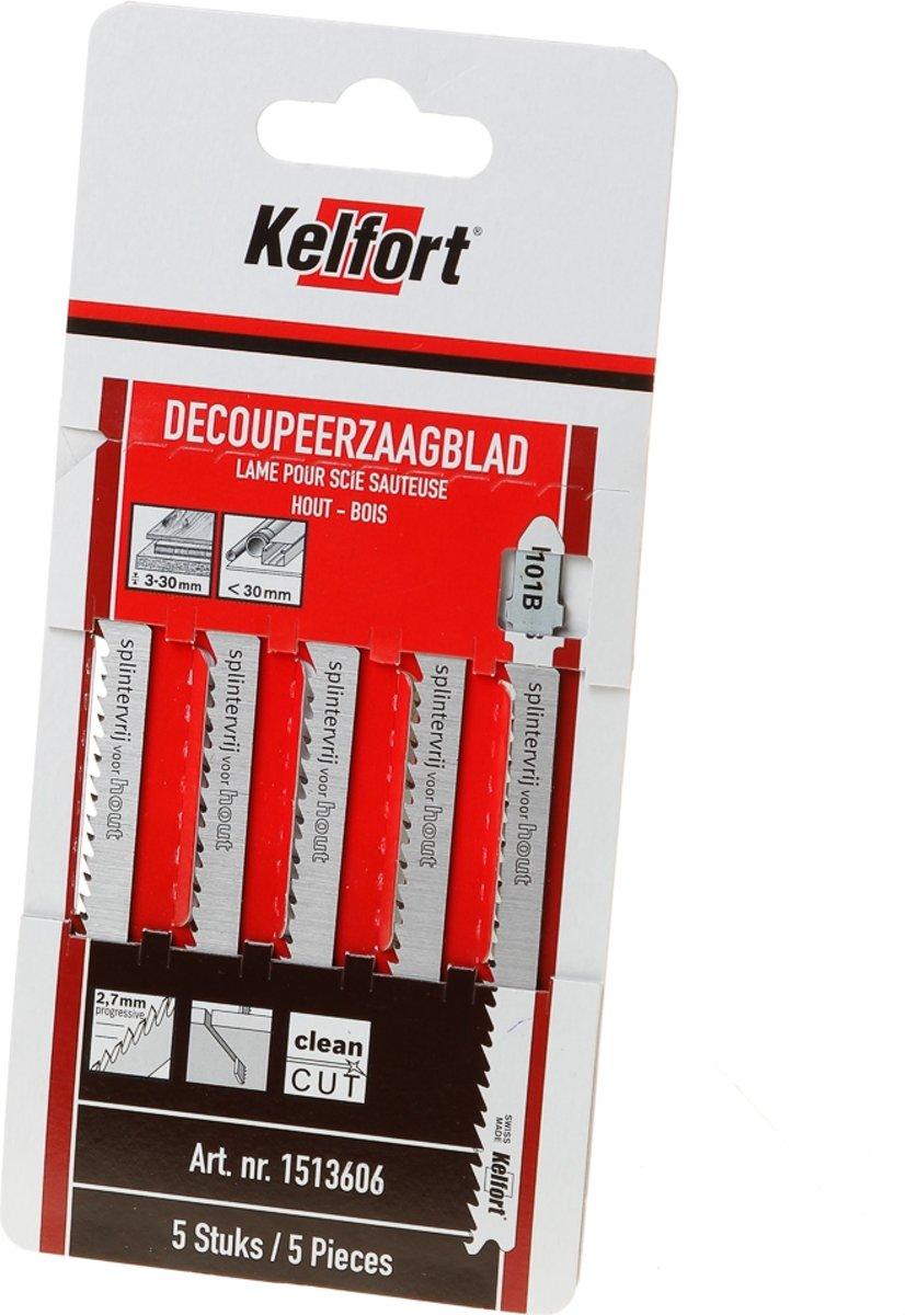 Kelfort Decoupeerzaagblad hout KT101B blister van 5 zaagjes