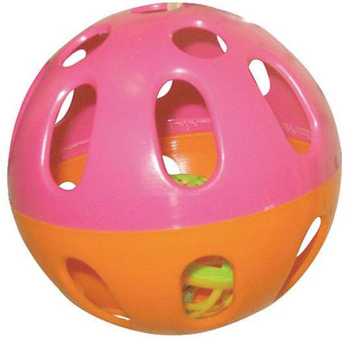Happy Pet Plastic Speelbal - Knaagspeeltje - Assorti - 6.5 x 6.5 x 6.5 cm
