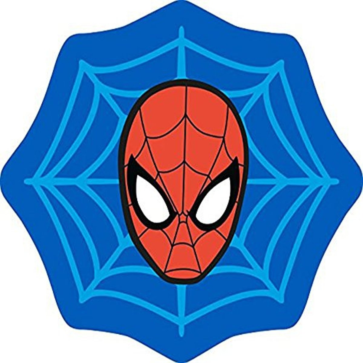 Spider-Man Abstract - Vloerkleed - 80 x 80 cm - Blauw