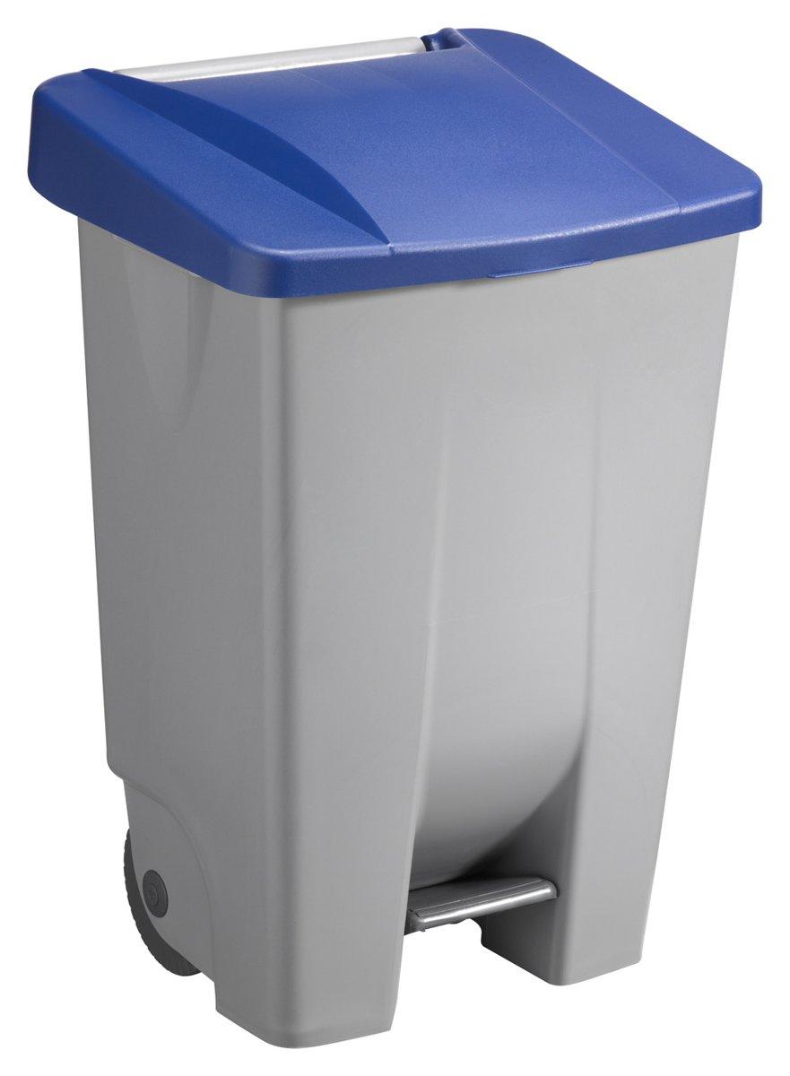 Basic Vuilnisbak 80 ltr grijs/blauw