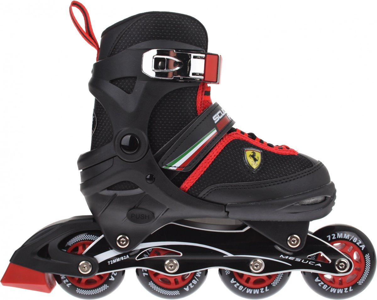 963bda2d162 bol.com | Mesuca Ferrari Fk16 Inline Skates Junior Zwart/rood Maat 34/37