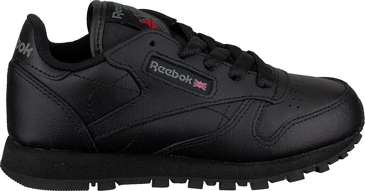 Reebok Meisjes Sneakers Classic Leather Kids - Zwart - Maat 30 kopen