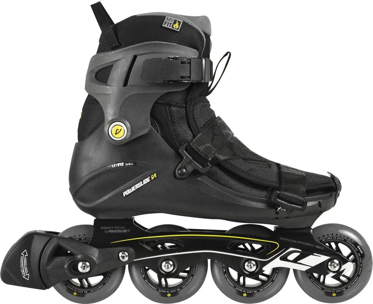 3286d2a70ae bol.com | Powerslide Vi Core Inlineskates - Maat 45 - Mannen - zwart/geel