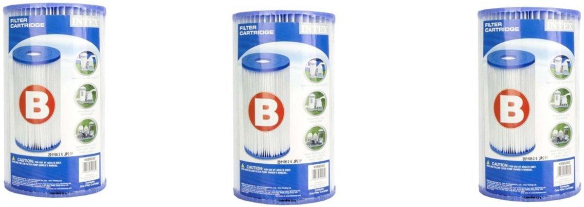 Intex B filter 3 stuks voor extreem grote filterpompen