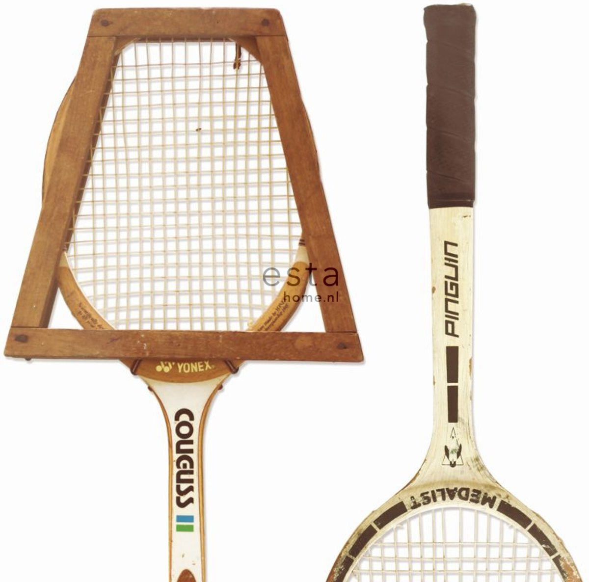 College Wallpaper XXL Tennisrackets -158801 van ESTAhome