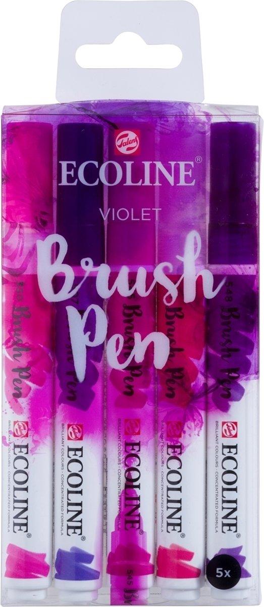 Talens Ecoline 5 brush pens Violet