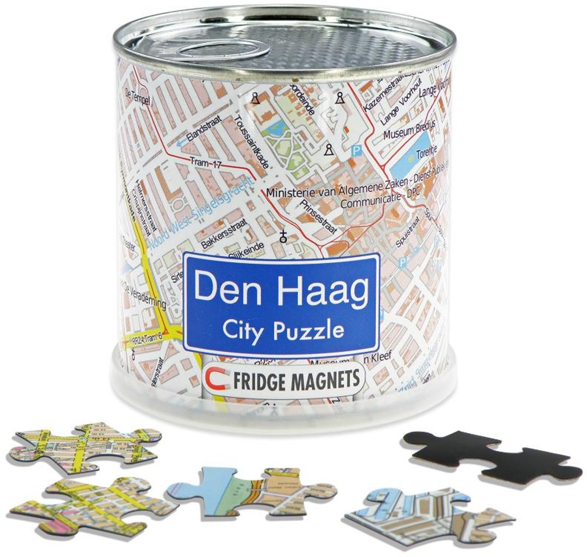 City Puzzle Den Haag - Puzzel - Magnetisch - 100 puzzelstukjes