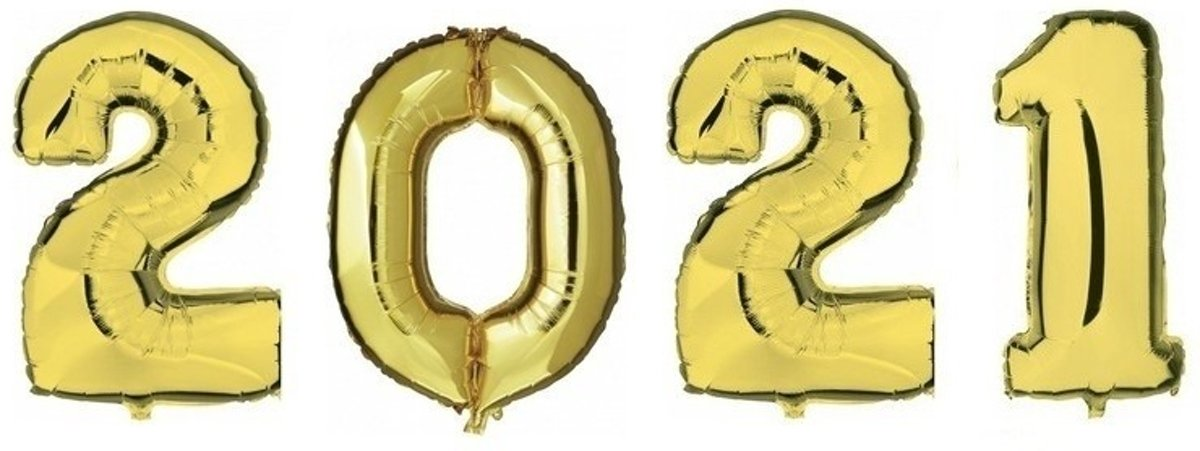 1x Cijfer nul 0 ballon goud