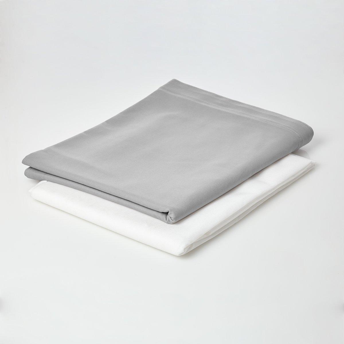 Lumaland - Hoes van luxe XXL zitzak - enkel de hoes zonder vulling - Volume 380 liter - 140 x 180 cm - gemaakt van 100% katoen - Grijs kopen