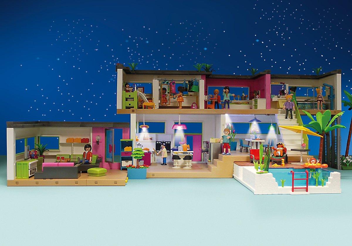 Playmobil Dollhouse Slaapkamer : Bol playmobil moderne luxevilla playmobil speelgoed