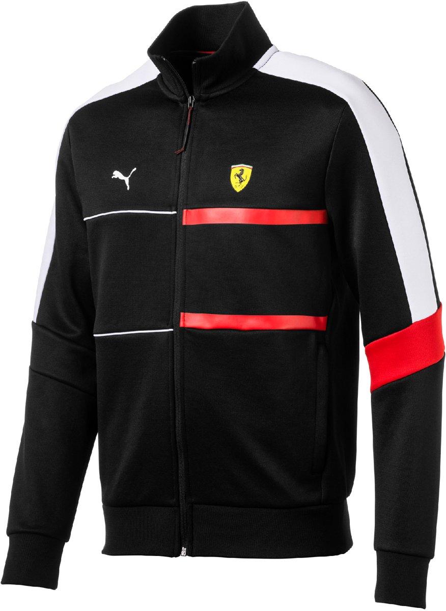 PUMA Scuderia Ferrari T7 Track Jacket Jas Heren - Puma Black