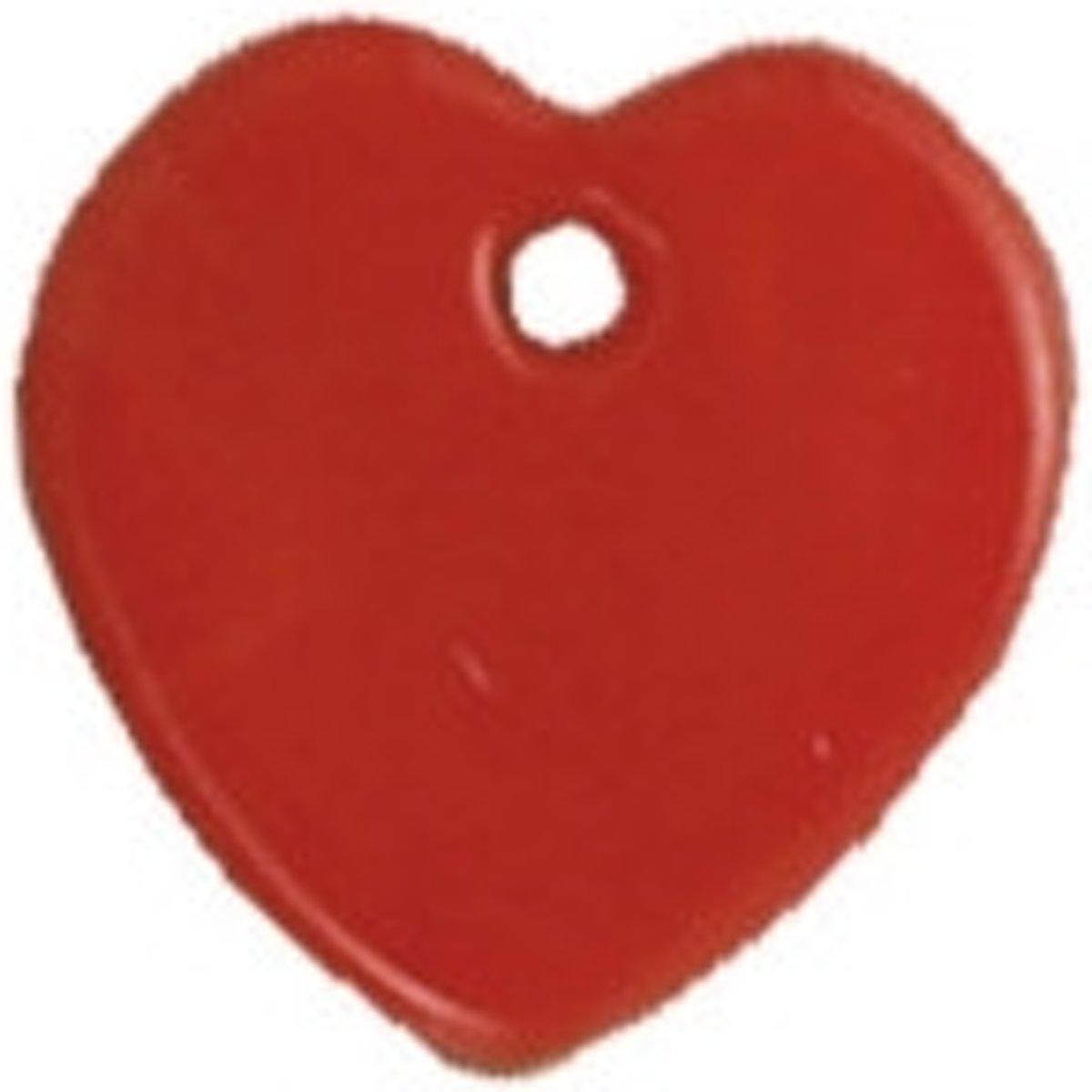 Afbeelding van product Buttons ass. 1 pk. a 6 st. red heart river shell dangles