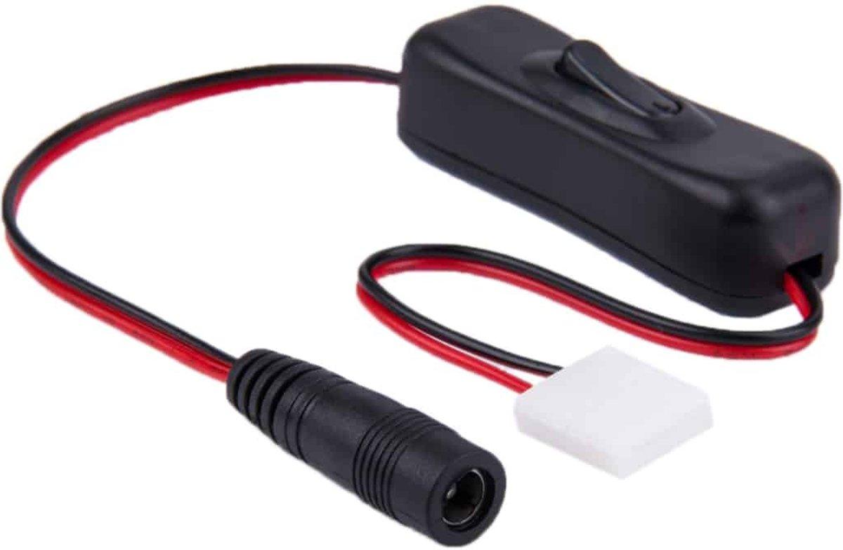 10mm 2 Switch LED pinsconnector met 5 5 x 2 1 mm DC vrouwelijke Adapter voor SMD 5050 LED Strip kopen
