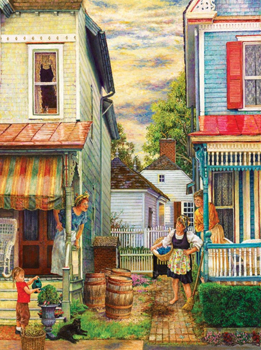 SunsOut legpuzzel Susan Brabeau's Porch Gossip 1000 stukjes kopen