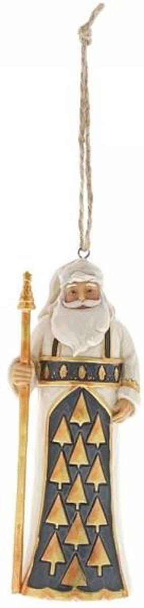 Jim Shore: Zwart en Gouden Kerstman (ornament) - Beelden & Figuren kopen