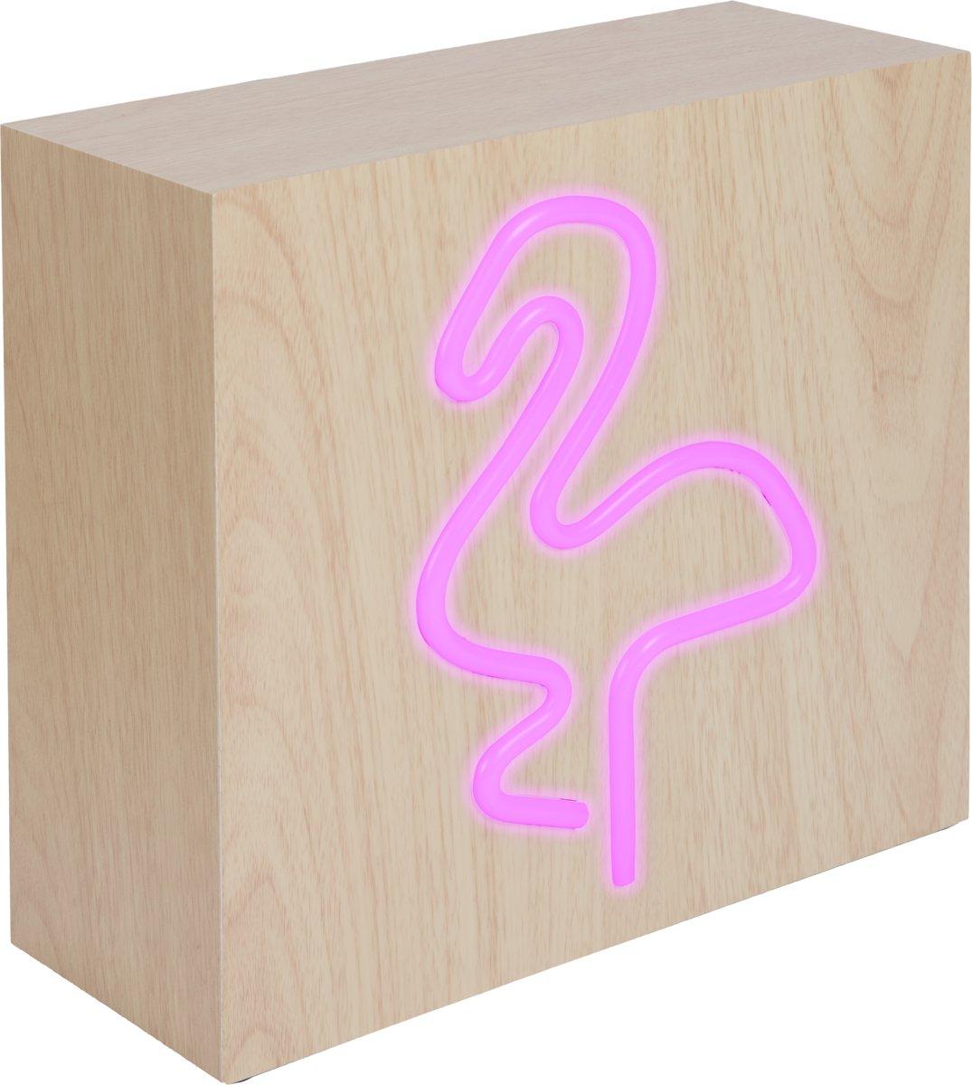 Bigben Bluetooth Speaker met Inductie Opladen - Neon Flamingo kopen