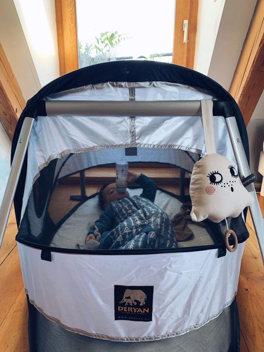 Campingbedje Prenatal Opzetten.Bol Com Deryan Peuterbox Campingbedje Zilver