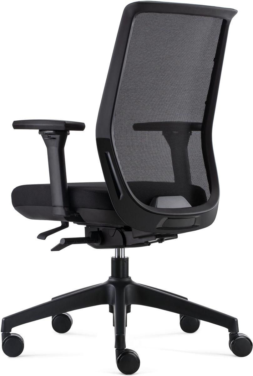 BenS 837 Synchro 4 Ergonomische Bureaustoel met alle instel opties Voldoet aan EN1335 en de Arbo normen Zwart