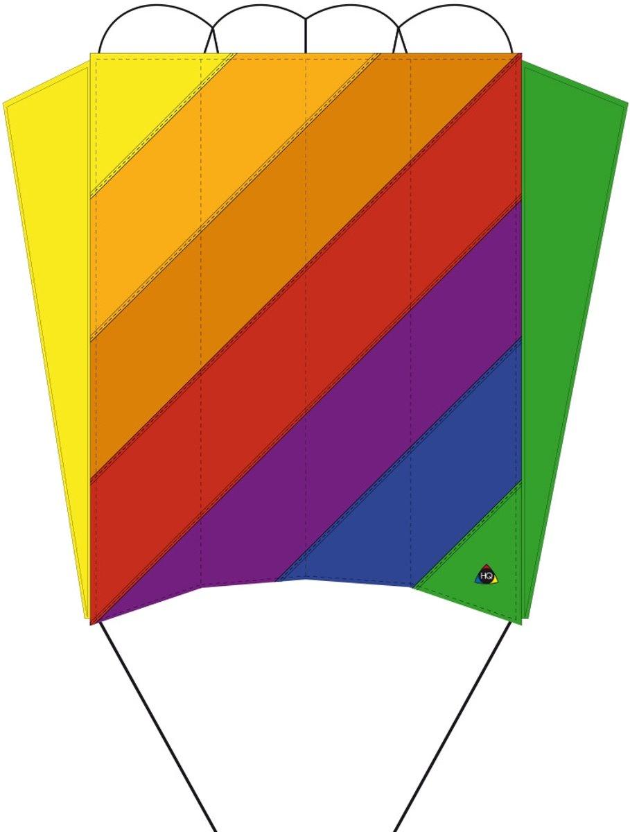Invento Eenlijnsvlieger Parafoil 5 Classic Rainbow 57 Cm