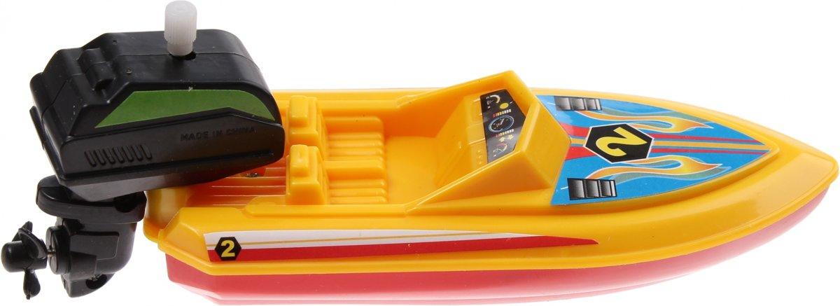 Waterzone Opwindbare Speedboot 15 Cm Geel