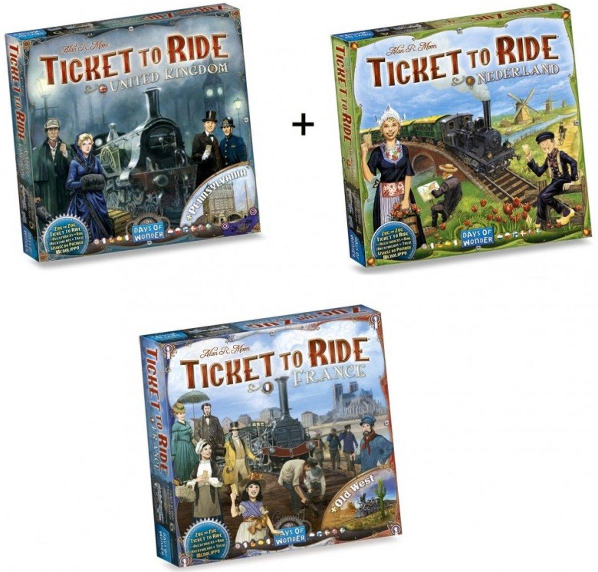 Spel - Ticket to Ride - Ultieme Uitbreidingsset - Map Collection - Europa 3 stuks