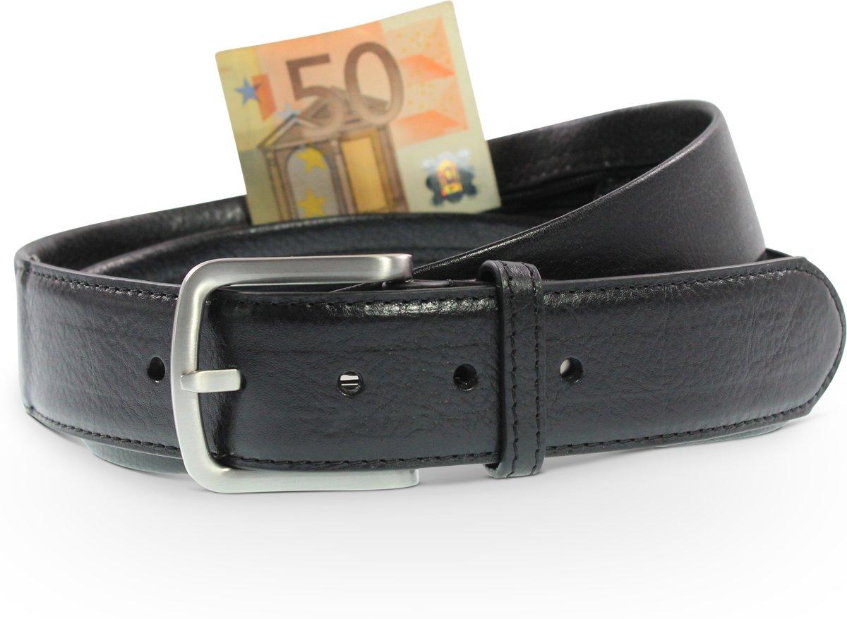 Geldriem - Moneybelt - Zwart - Echt leer - Veiligheid - Safekeepers kopen