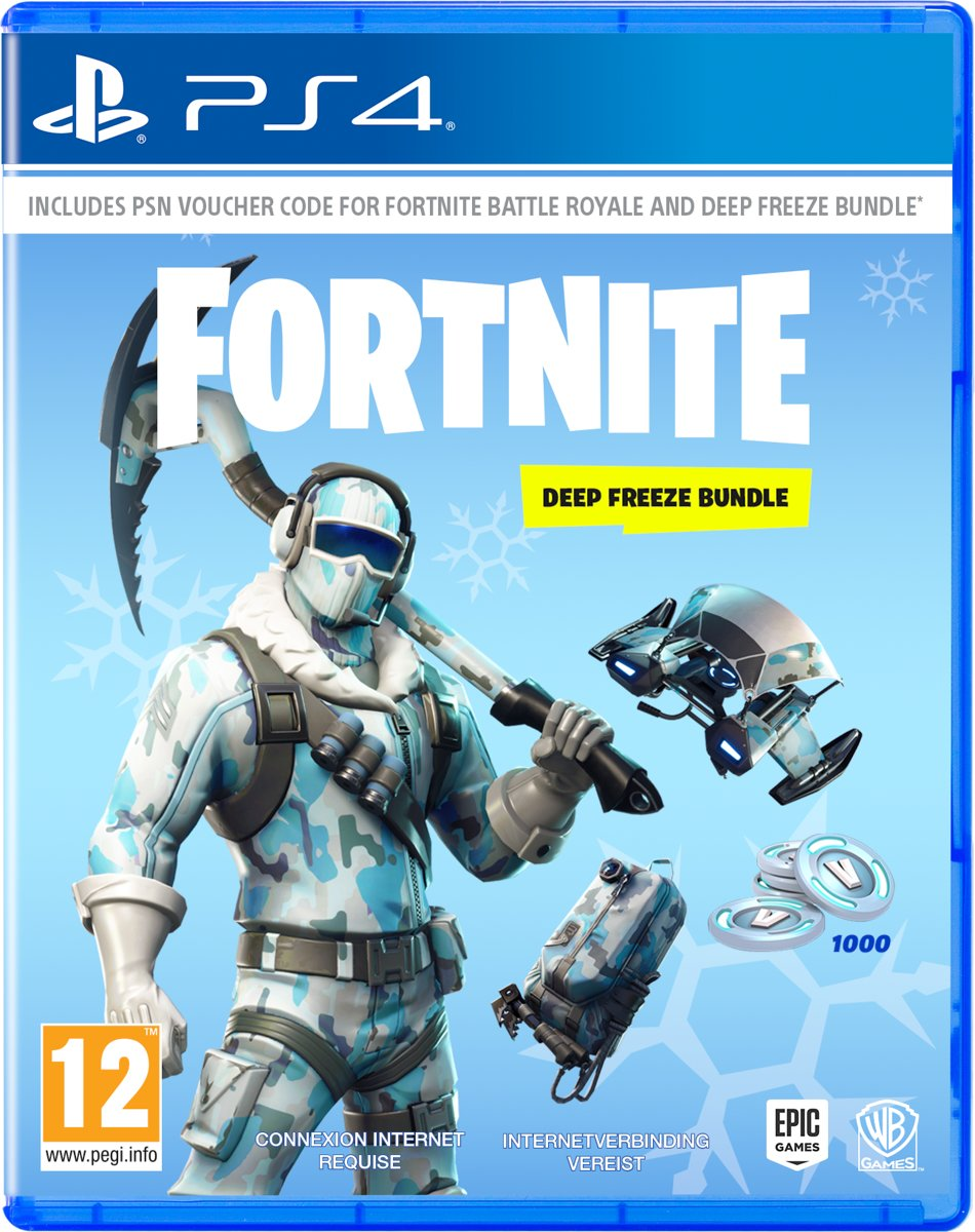 Fortnite: Deep Freeze Bundle -  Code in Box PlayStation 4