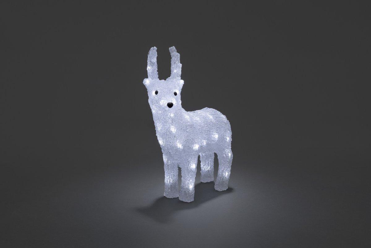 konstsmide 6139 verlicht kerstfiguur 32 lamps led acryl rendier 29x38 cm 6u timer op batterij voor