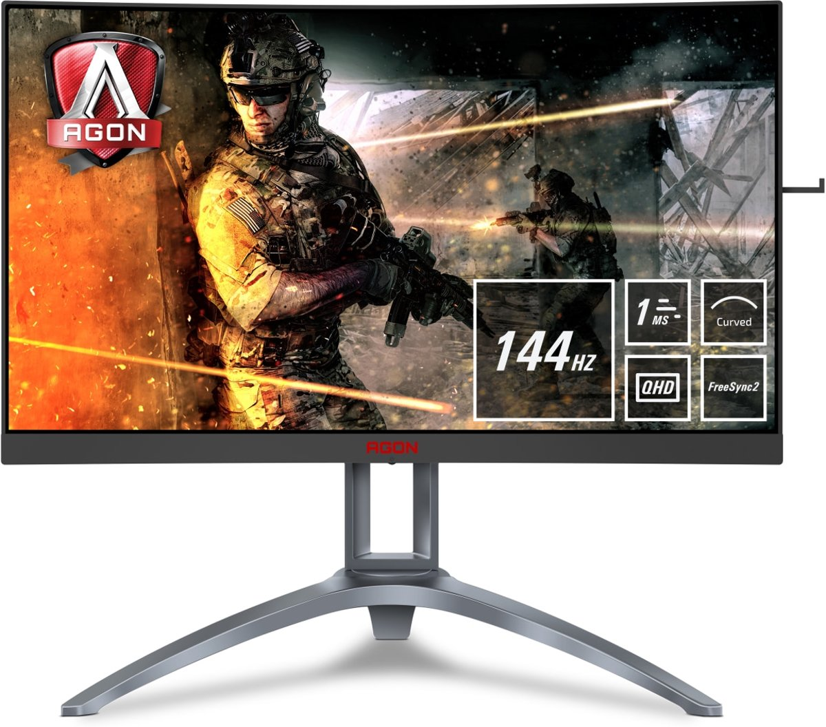 AOC AGON AG273QCX - WQHD Curved Gaming Monitor (144 Hz)