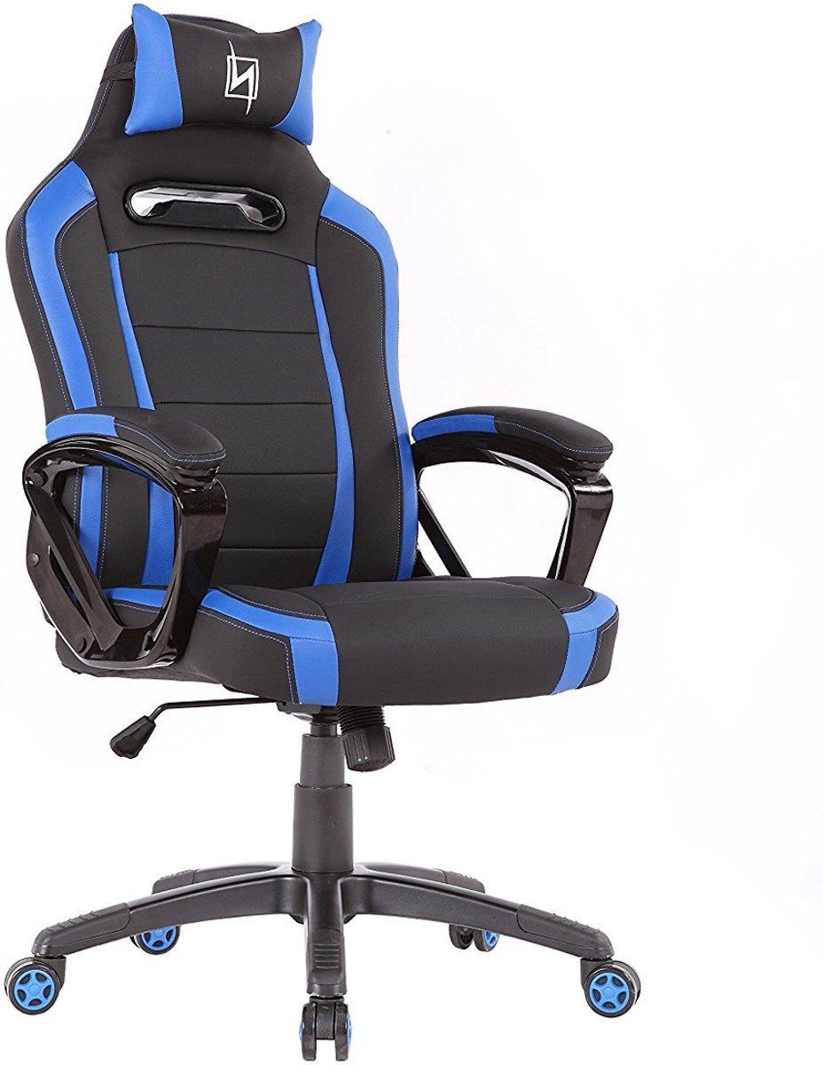 N. Seat Pro 300 Gaming Race / bureaustoel - Blauw/Zwart