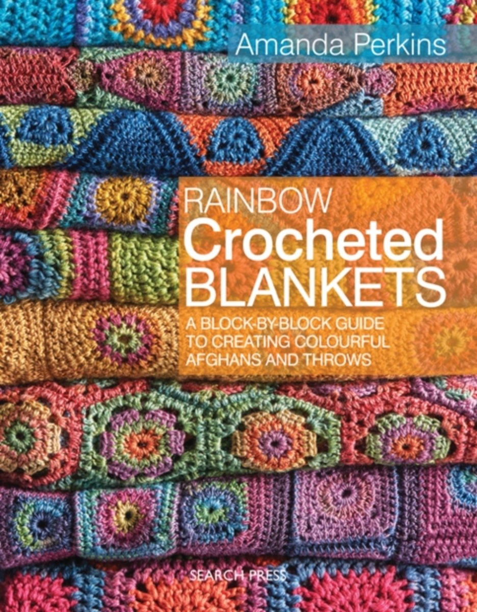 Rainbow Crocheted Blankets Amanda Perkins 9781782211570 Diagram Crochet Patterns Love Copy Boeken