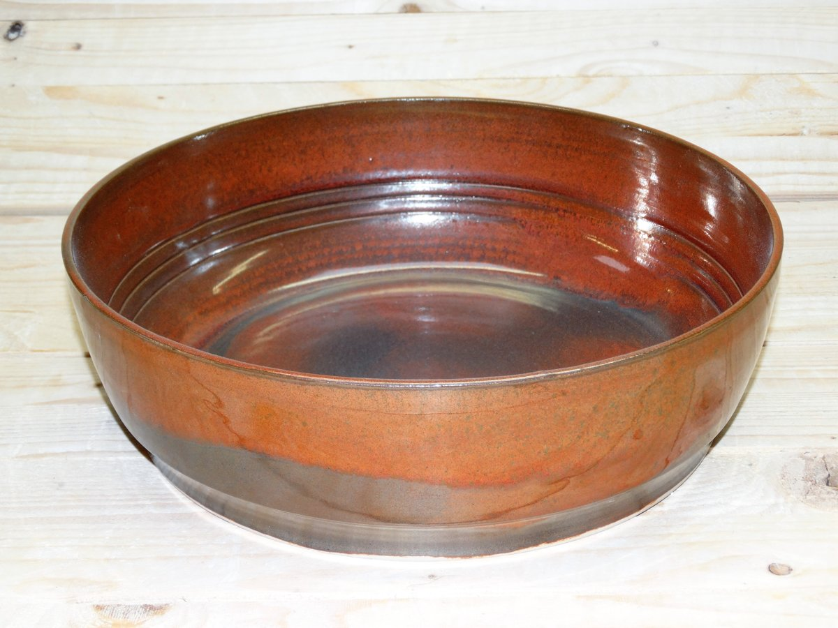 Stefans Pottery : Serveerschaal D28 H9 - Rood - Keramiek - Stoneware
