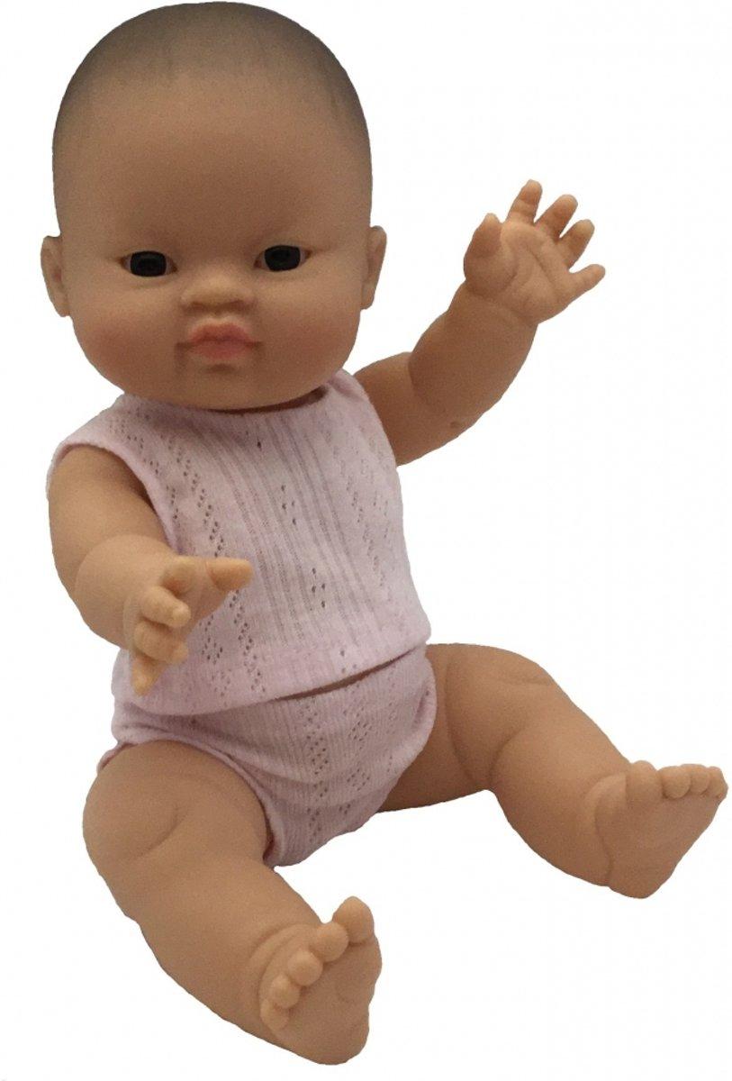 Paola reina pop Gordi meisje Aziatisch met ondergoed roze 34cm