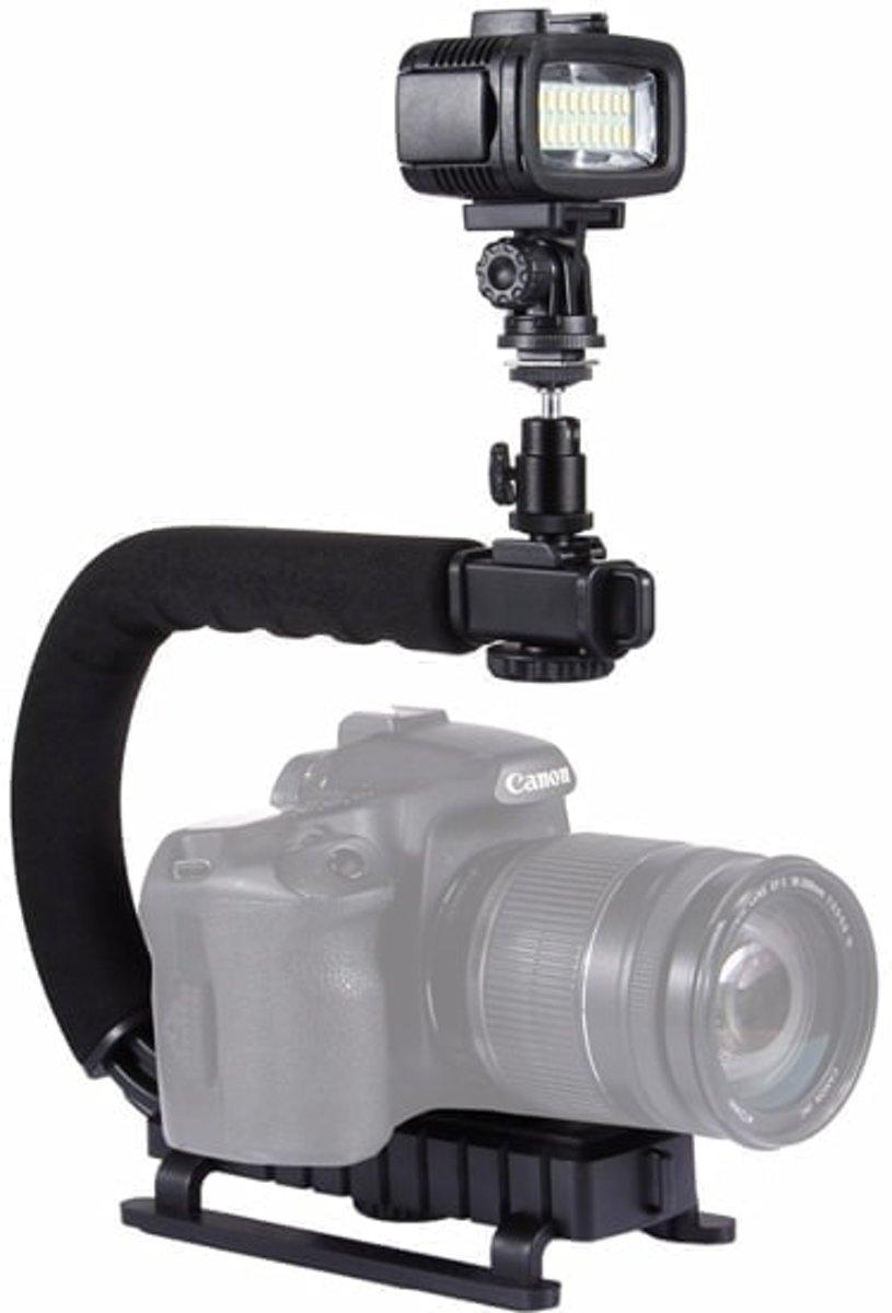 PULUZ PU3006 U-Grip C-vormige Handgreep Camera Stabilizer Steadycam Houder Telefoonklem voor DSLR