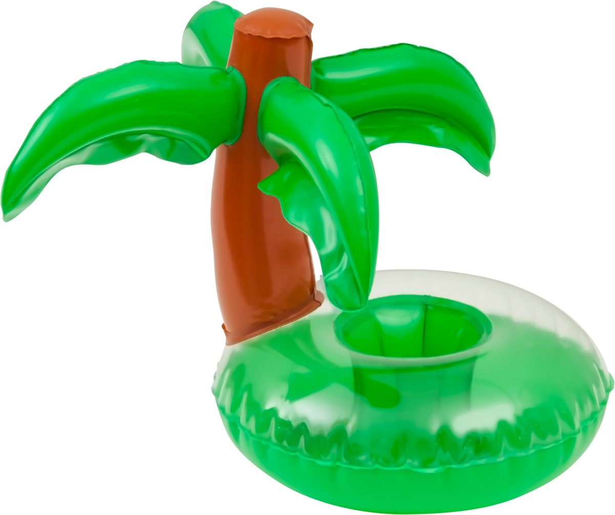 Enjoy Summer Opblaasbare Palmboom Cupholder 24 Cm Groen