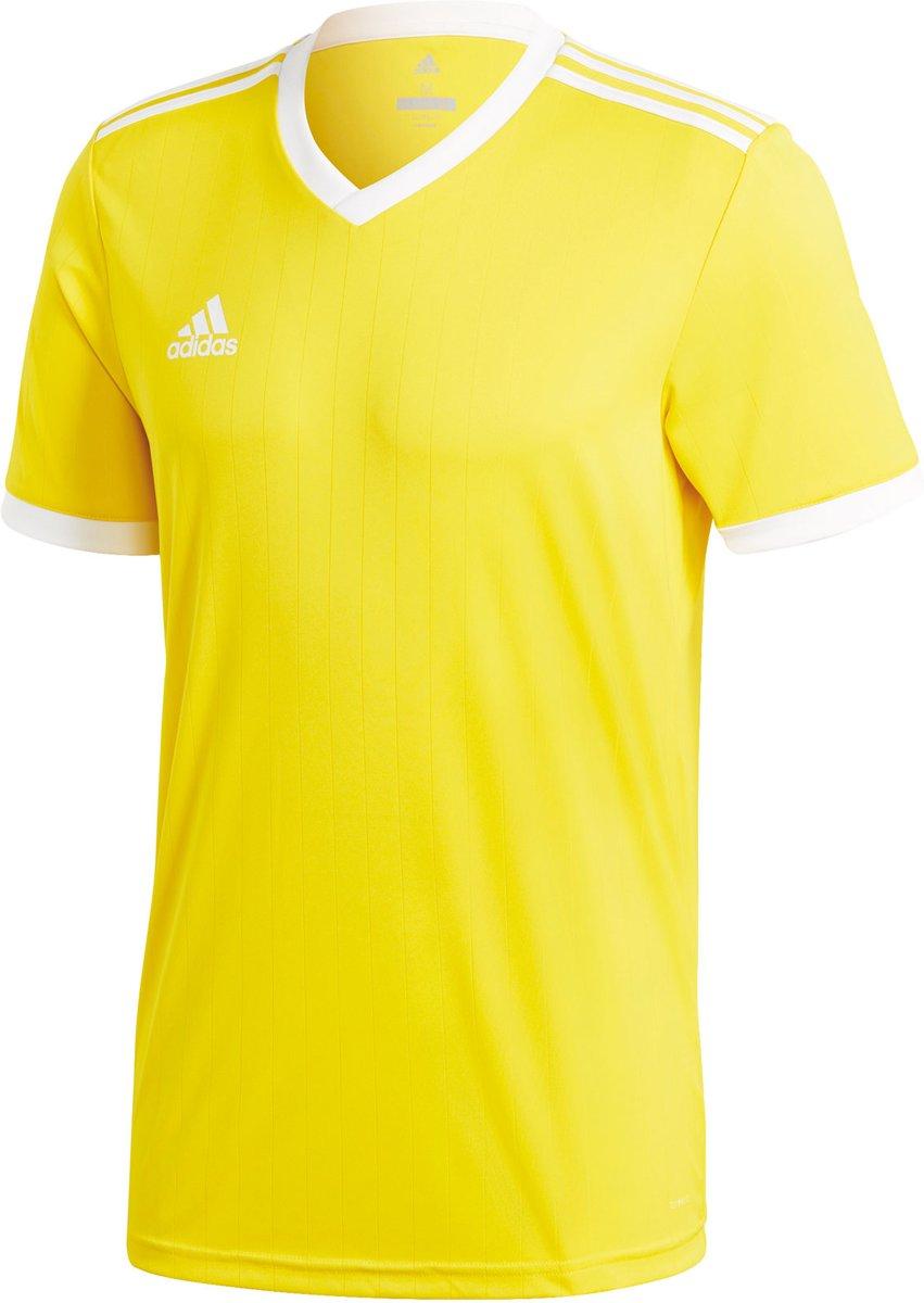 adidas Tabela 18 SS Jersey Teamshirt Heren Sportshirt Maat M Mannen geelwit